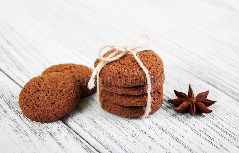 Biscotti di farina d'avena sani fotografie stock libere da diritti