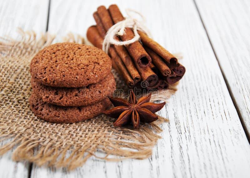 Biscotti di farina d'avena sani fotografia stock libera da diritti