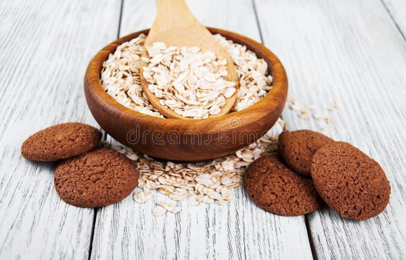 Biscotti di farina d'avena sani immagini stock