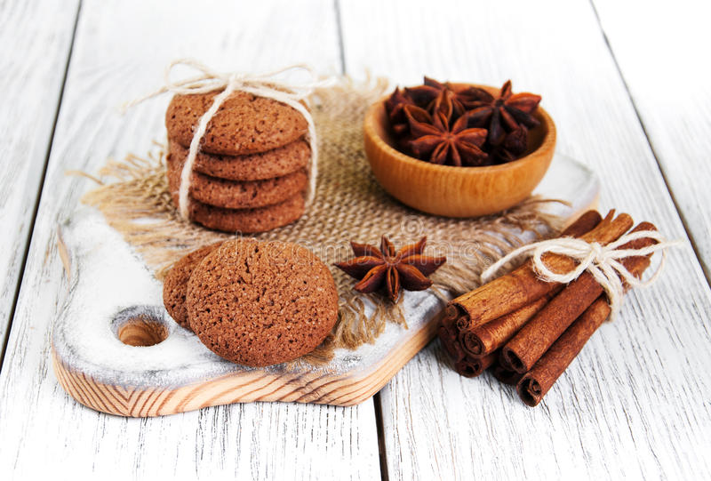 Biscotti di farina d'avena sani immagine stock
