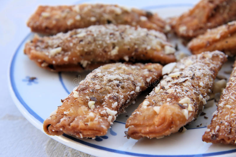 Biscotti di mandorla ciprioti fotografia stock libera da diritti