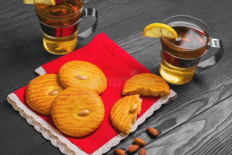 Biscotti di mandorle italiani fotografia stock