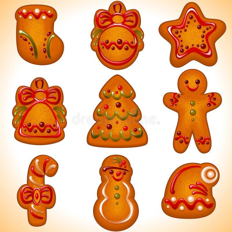 Biscotti di natale. insieme royalty illustrazione gratis