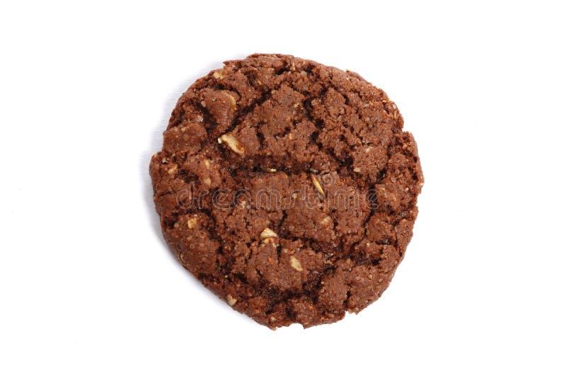 Biscotti di pepita di cioccolato isolati su priorit? bassa bianca fotografia stock libera da diritti