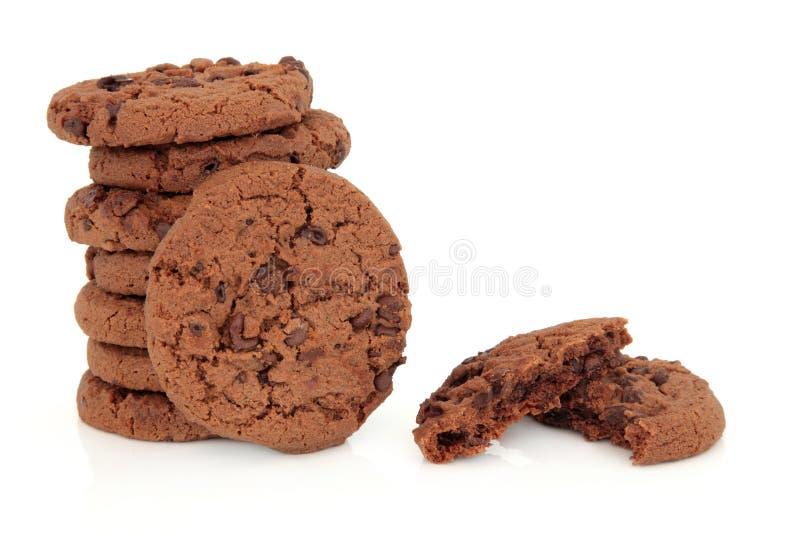 Biscotti di pepita di cioccolato immagini stock libere da diritti