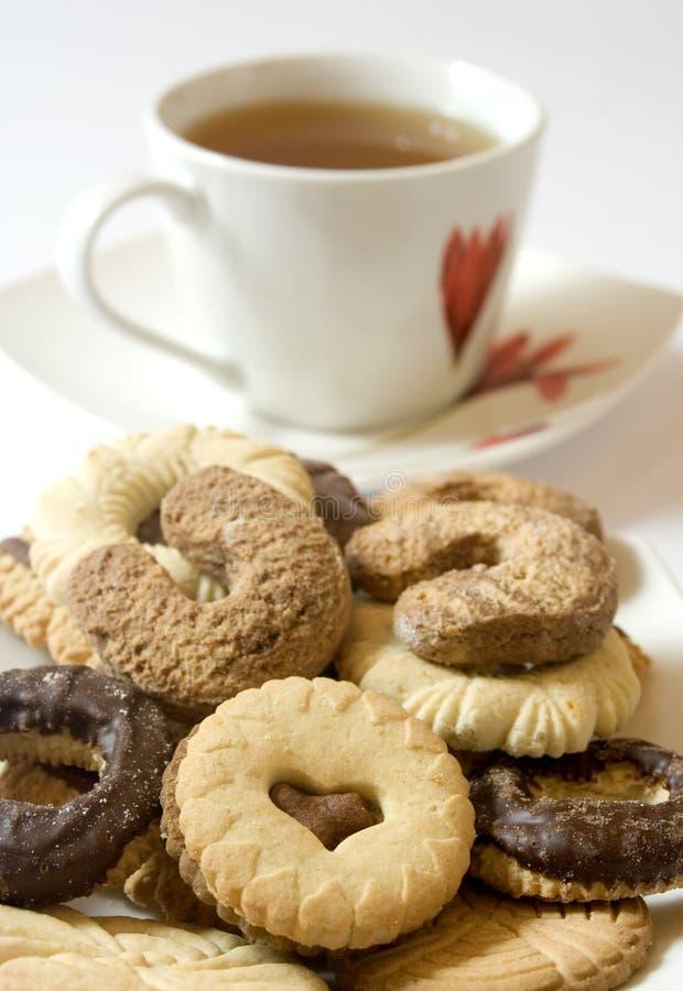 Biscotti di tè immagini stock