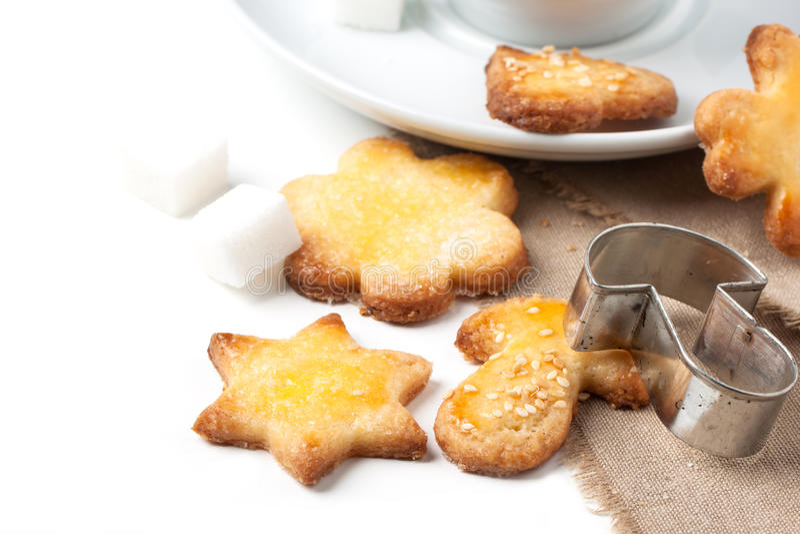Biscotti di zucchero fotografia stock