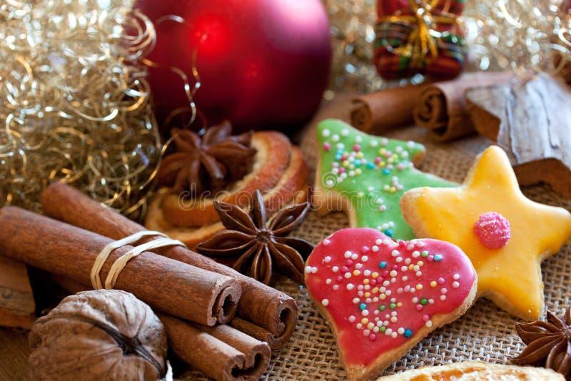 Biscotti dolci di natale fotografia stock