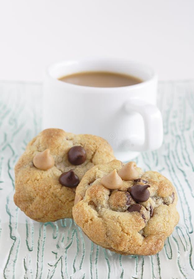 Biscotti e caffè immagini stock