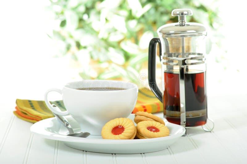 Biscotti e caffè immagini stock libere da diritti