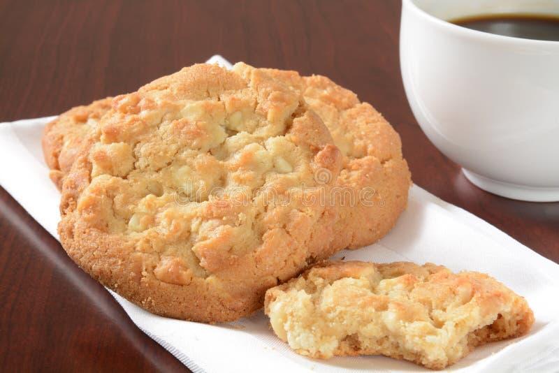 Biscotti e caffè gastronomici fotografia stock libera da diritti