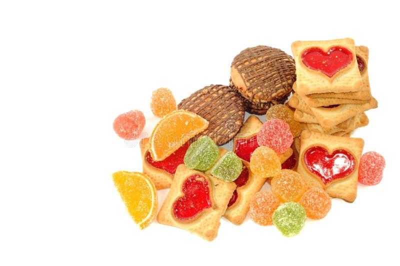 Biscotti e dolci fotografia stock libera da diritti