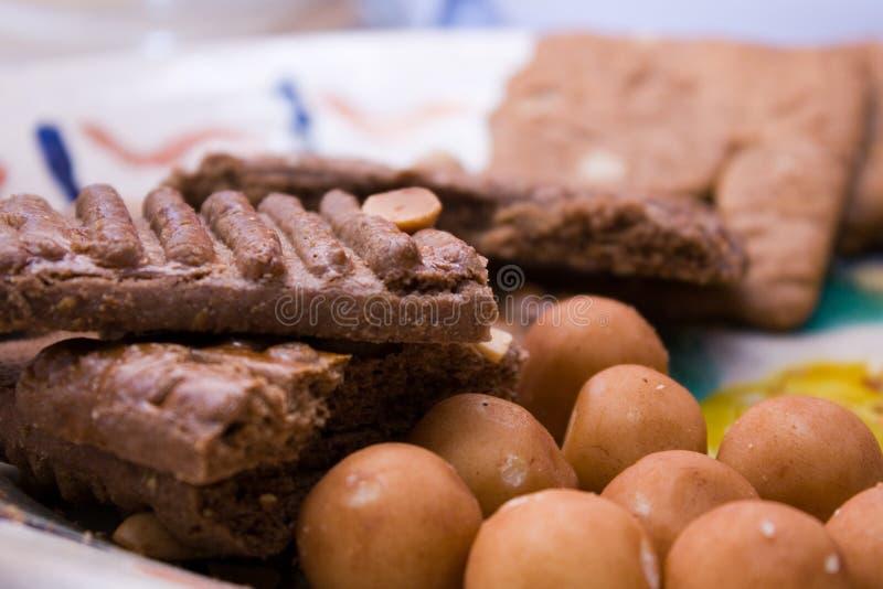 Biscotti e marzapane 2 immagini stock libere da diritti