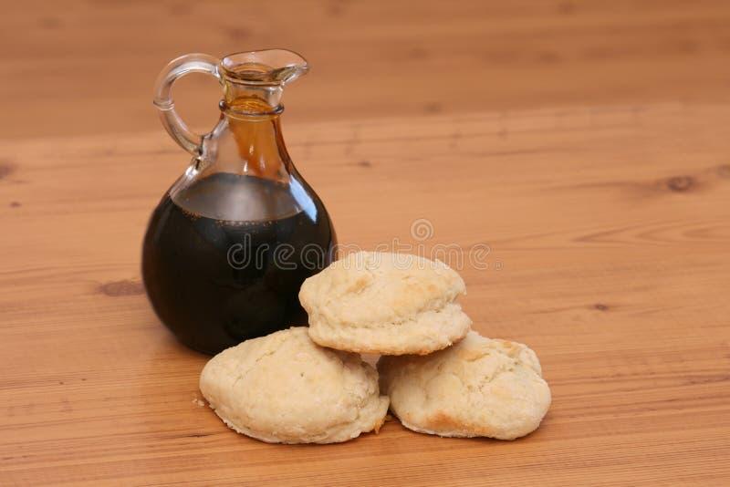 Biscotti e melassa fotografia stock