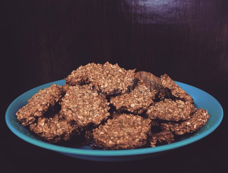 Biscotti fatti a mano dell'avena fotografia stock libera da diritti