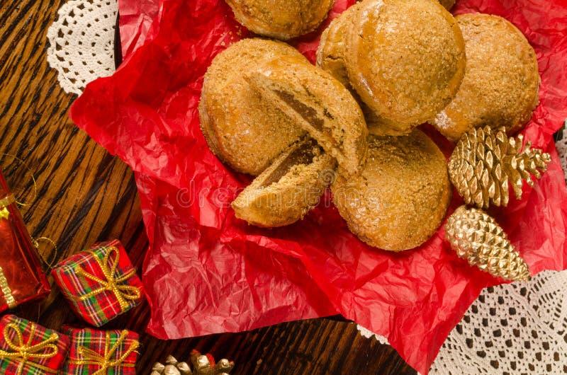 Biscotti festivi della zucca immagini stock