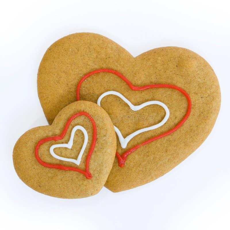 Biscotti a forma di del cuore immagine stock libera da diritti