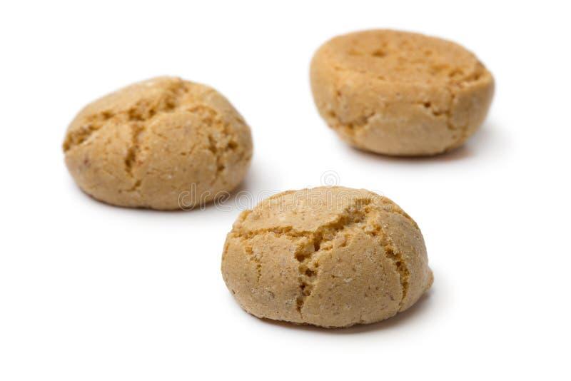 Biscotti freschi di Amarettini dell'italiano fotografia stock