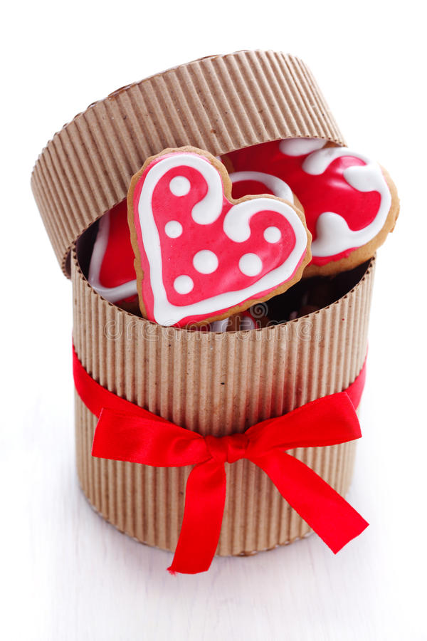 Biscotti Heart-shaped fotografia stock