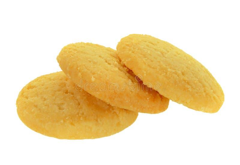 Biscotti isolati su bianco fotografia stock