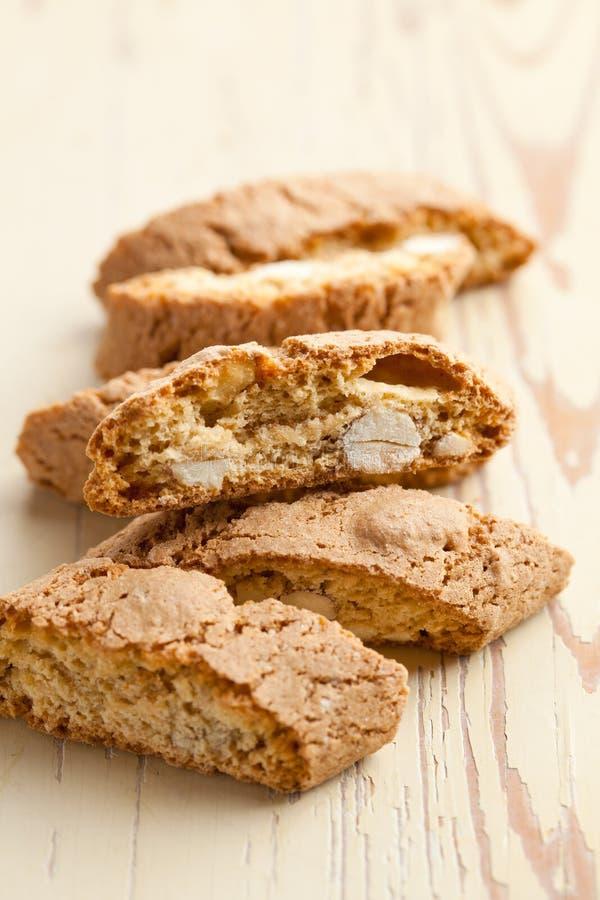 Biscotti italiani di cantuccini fotografie stock libere da diritti