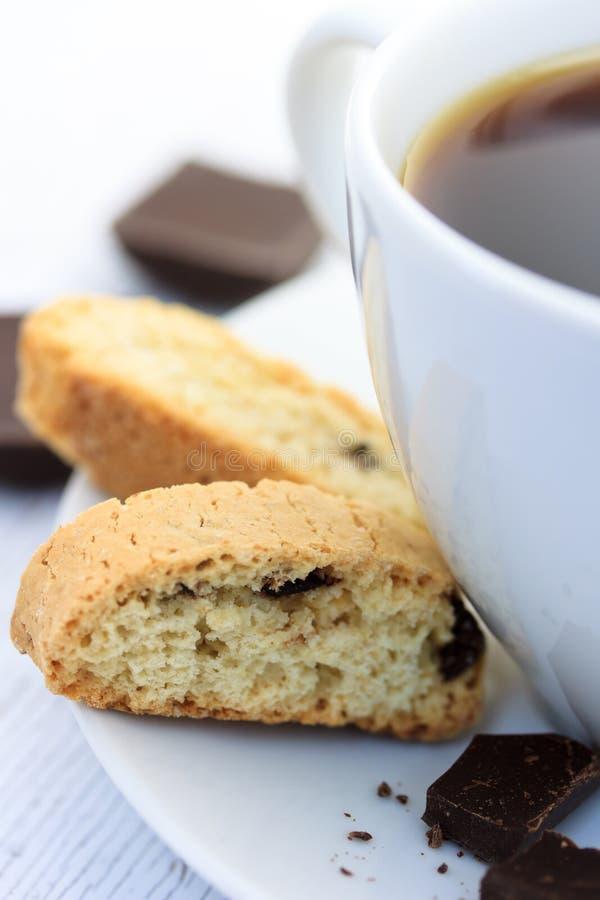 biscotti kawa obraz stock