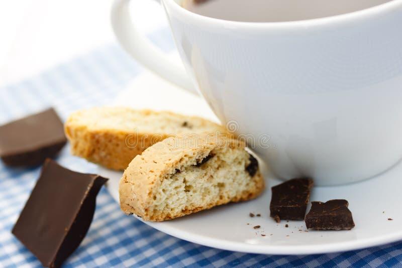 biscotti kawa obraz royalty free