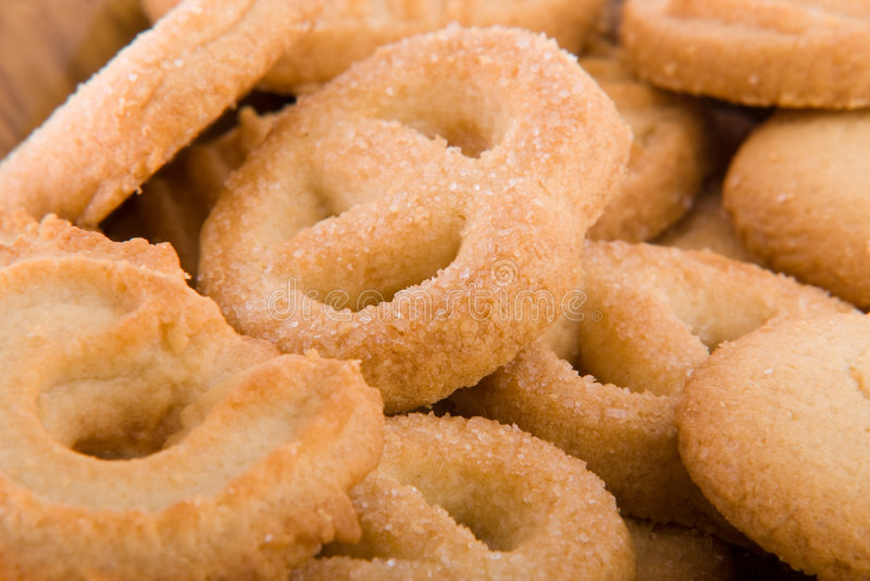 Biscotti a macroistruzione fotografia stock