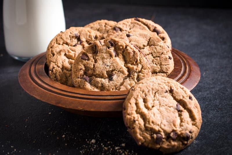 Biscotti nel piatto fotografia stock