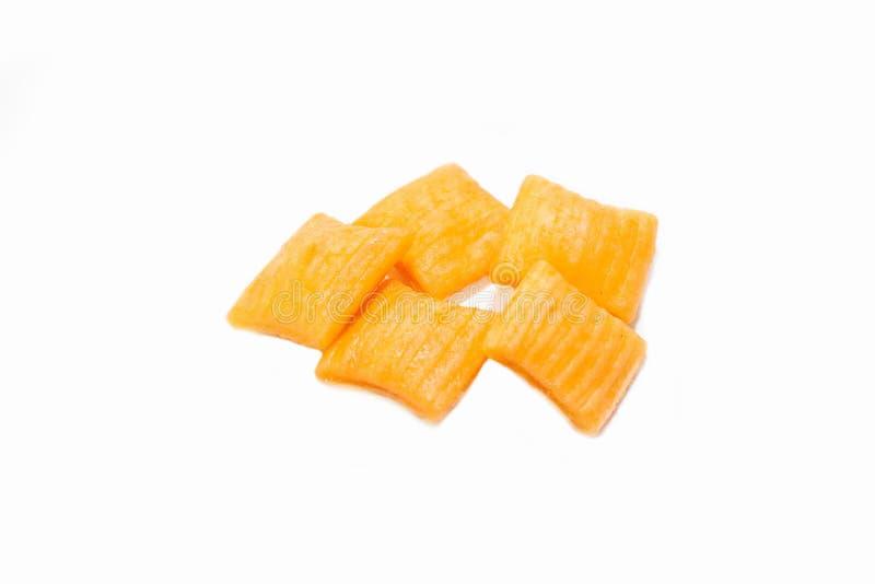 Biscotti o cracker quadrati deliziosi immagini stock
