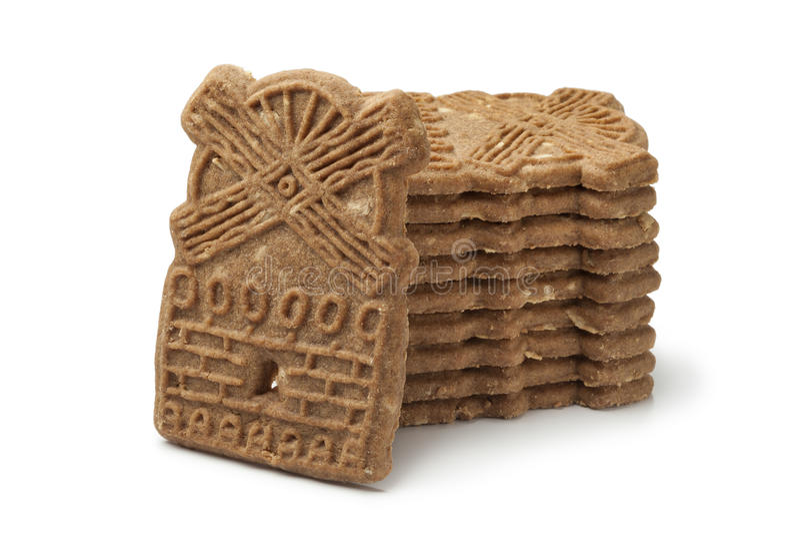 Biscotti olandesi tradizionali di speculaas fotografia stock