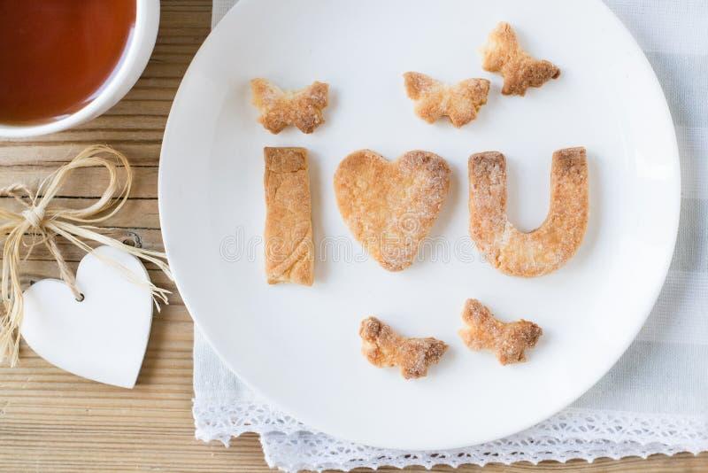 Biscotti per il giorno di S. Valentino fotografia stock