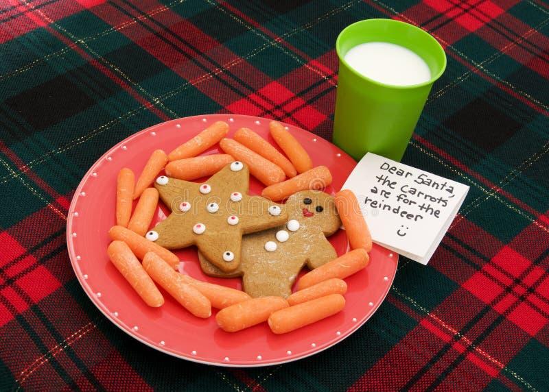 Biscotti per Santa fotografia stock