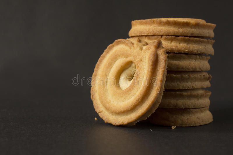 Biscotti rotondi immagini stock libere da diritti