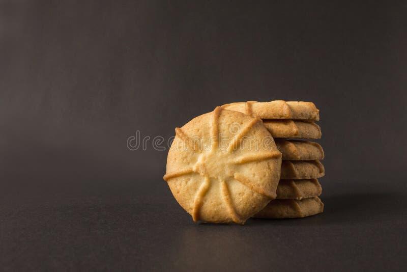 Biscotti rotondi fotografia stock