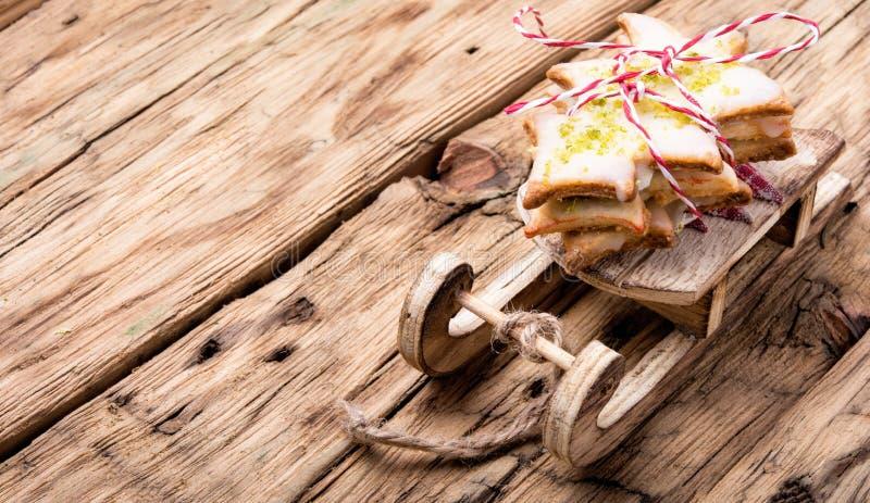 Biscotti simbolici di natale fotografia stock libera da diritti