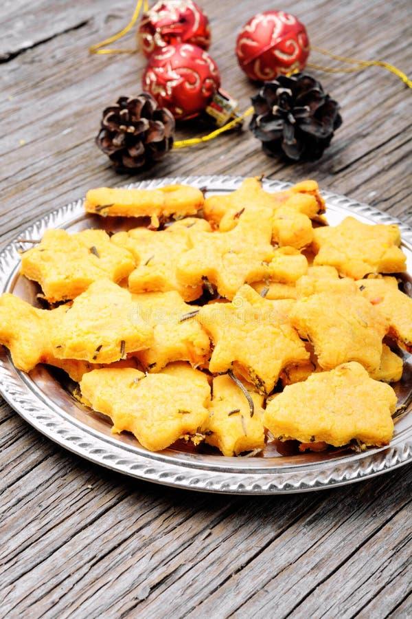 Biscotti simbolici di natale immagine stock