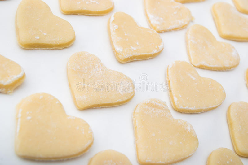 Biscotti sotto forma di cuore immagine stock libera da diritti