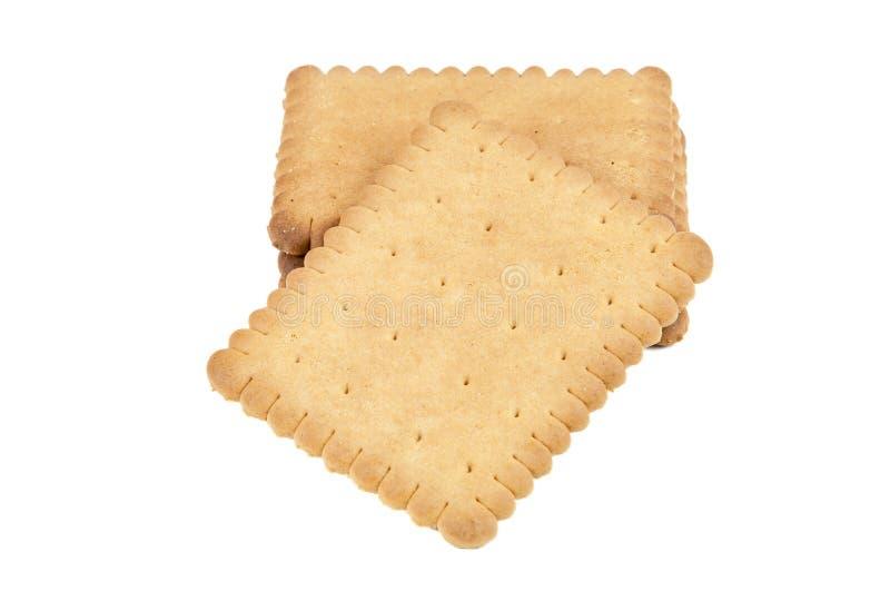Biscotti su priorità bassa bianca immagini stock