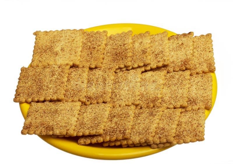 Biscotti su priorità bassa bianca fotografie stock libere da diritti