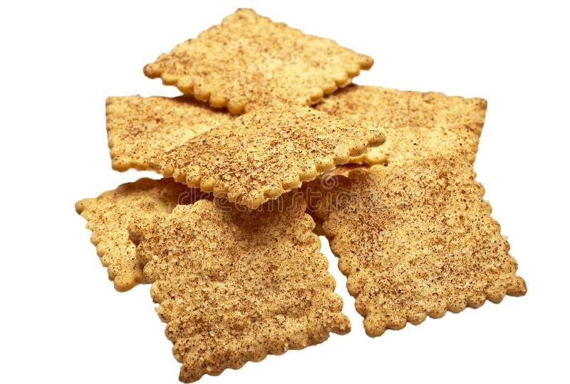 Biscotti su priorità bassa bianca fotografia stock