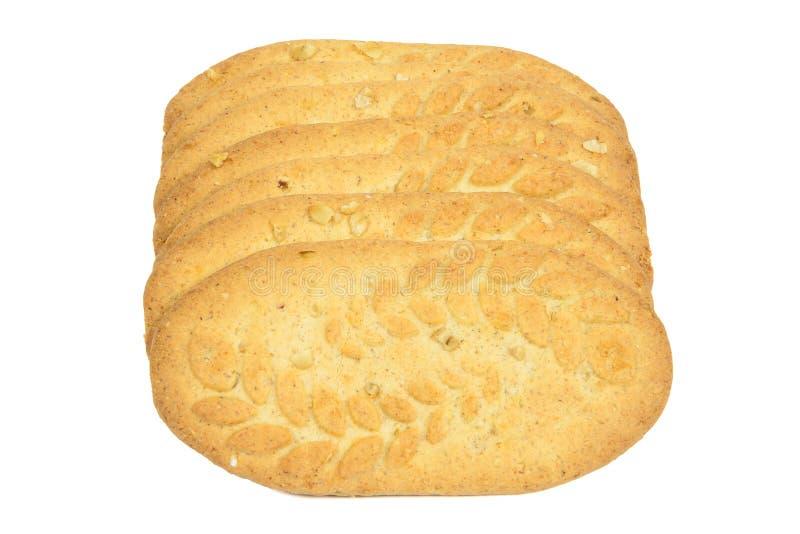 Biscotti su priorità bassa bianca fotografia stock libera da diritti