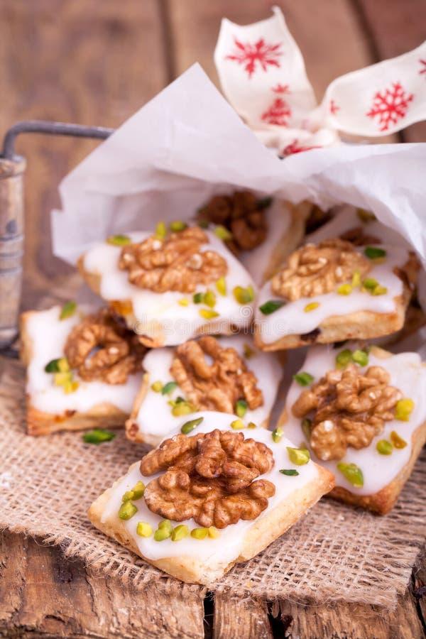 Biscotti tradizionali di natale fotografie stock