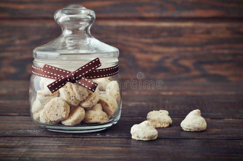 Biscotti in un barattolo di vetro fotografia stock