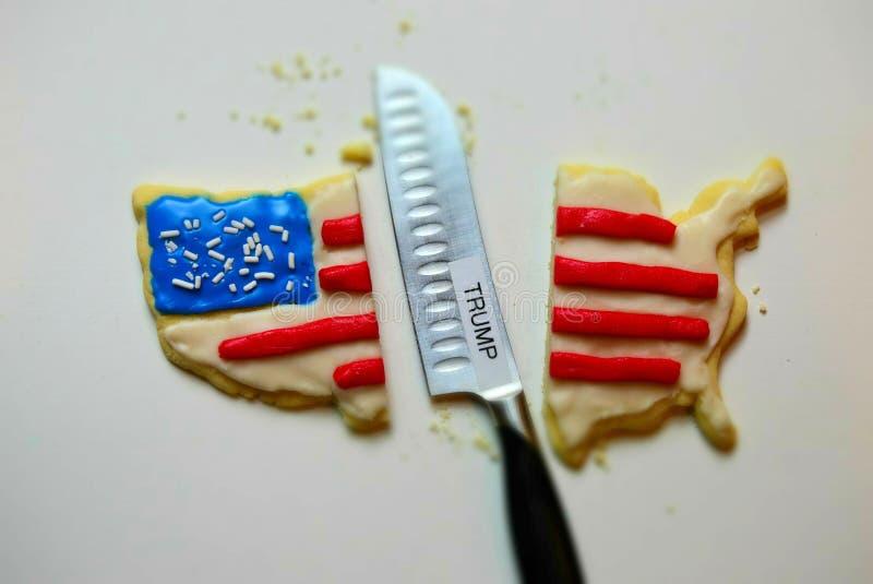 Biscotto America divisa rappresentazione dovuto Trump immagine stock libera da diritti