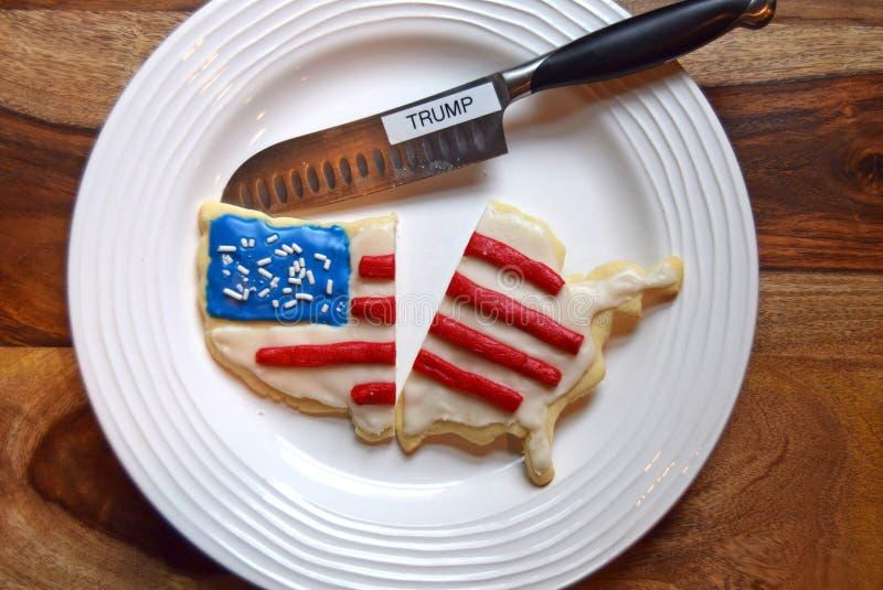 Biscotto America divisa rappresentazione dovuto Trump fotografie stock libere da diritti