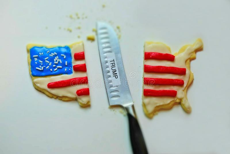 Biscotto America divisa rappresentazione dovuto Trump immagine stock