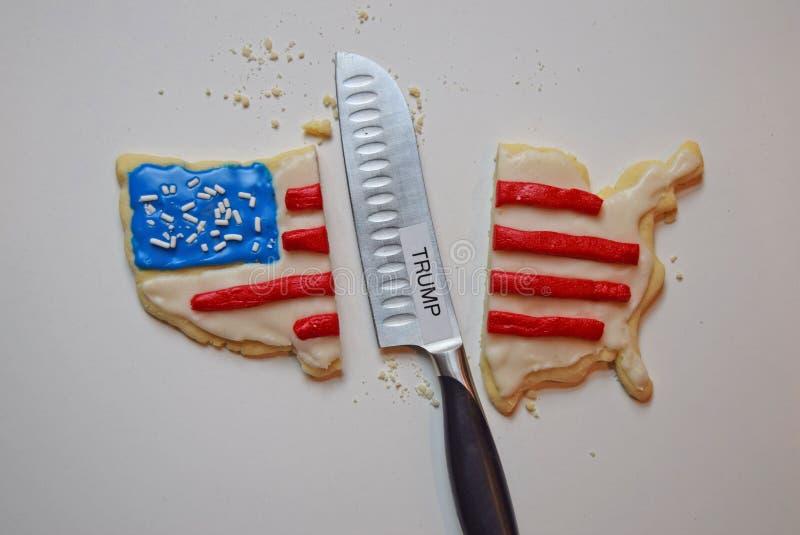 Biscotto America divisa rappresentazione dovuto Trump fotografie stock