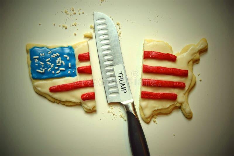 Biscotto America divisa rappresentazione dovuto Trump immagini stock libere da diritti