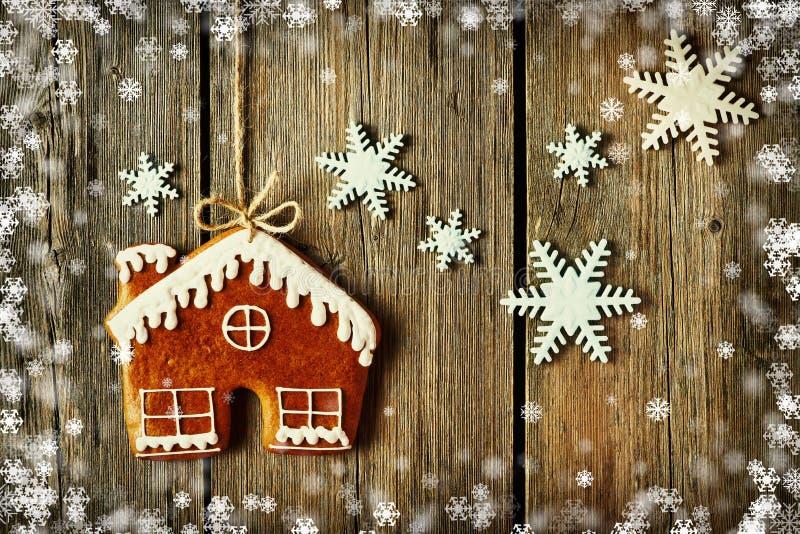 Biscotto casalingo della casa di pan di zenzero di Natale illustrazione vettoriale